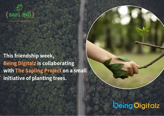 Being Digitalz & The Sapling Project Extend Friendship to Our Green Companions